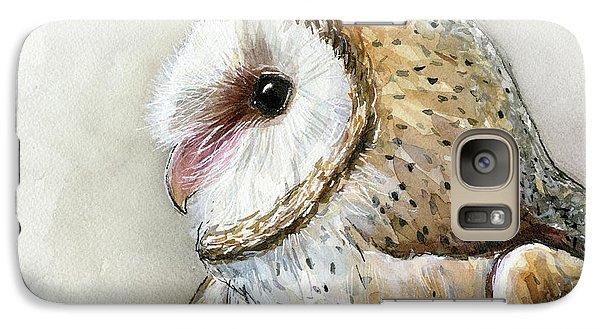 Barn Owl Watercolor Galaxy S7 Case