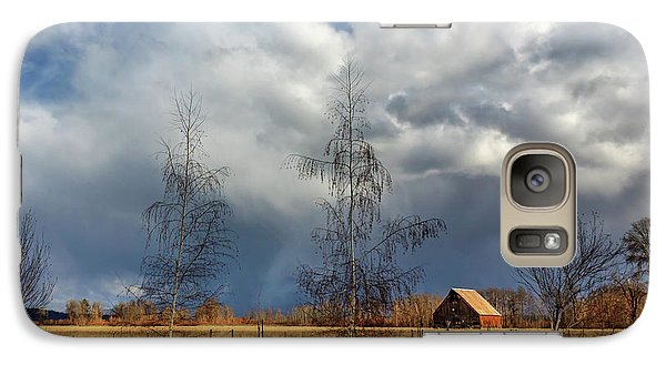 Galaxy Case featuring the photograph Barn Storm by James Eddy