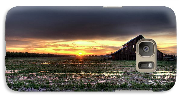 Galaxy Case featuring the photograph Barn Sunrise by Jim and Emily Bush