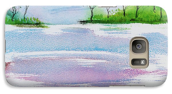 Gum Trees Frame The Sunset At Barnes Bay Galaxy S7 Case