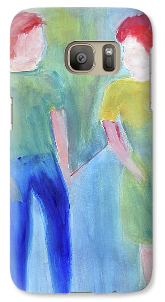 Galaxy Case featuring the painting Barney And Elizabeth by Sandy McIntire