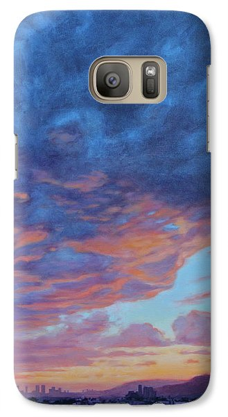 Galaxy Case featuring the painting Barnsdall Hill by Andrew Danielsen