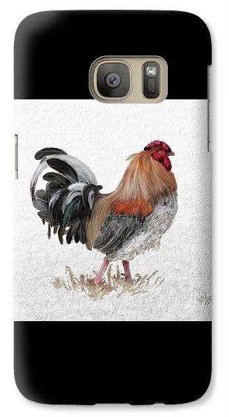 Galaxy Case featuring the digital art Barnyard Boss by Lois Bryan