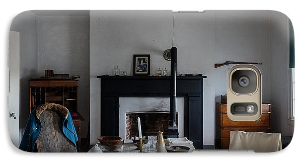 Galaxy Case featuring the photograph Barracks Interior At Fort Laramie National Historic Site In Goshen County by Carol M Highsmith