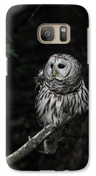 Galaxy Case featuring the photograph Barred Owl 2 by Glenn Gordon