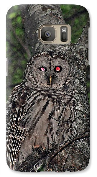 Galaxy Case featuring the photograph Barred Owl 3 by Glenn Gordon
