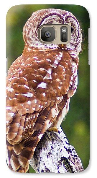 Barred Owl Galaxy S7 Case by Bill Barber