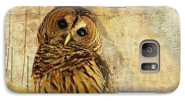 Galaxy Case featuring the photograph Barred Owl by Lois Bryan