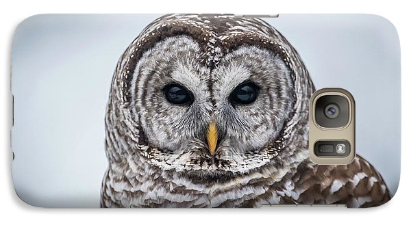 Galaxy Case featuring the photograph Barred Owl by Paul Freidlund
