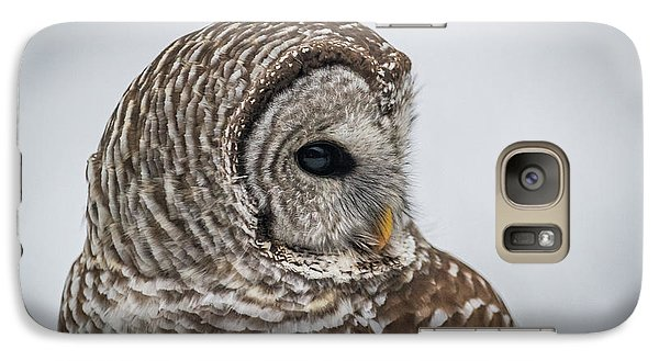 Galaxy Case featuring the photograph Barred Owl Portrait by Paul Freidlund