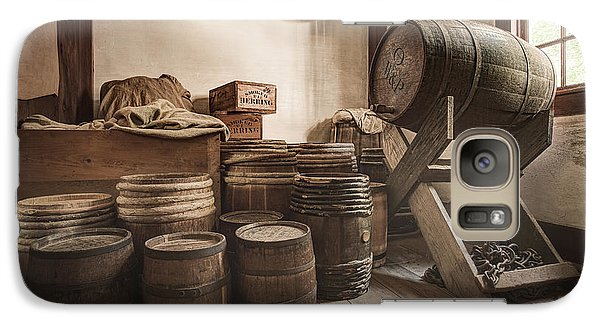 Galaxy Case featuring the photograph Barrels By The Window by Gary Heller
