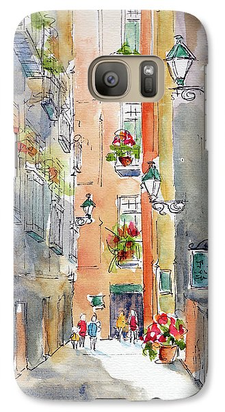 Galaxy Case featuring the painting Barrio Gotico Barcelona by Pat Katz