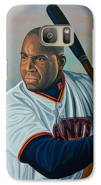 Softball Galaxy S7 Case - Barry Bonds by Paul Meijering