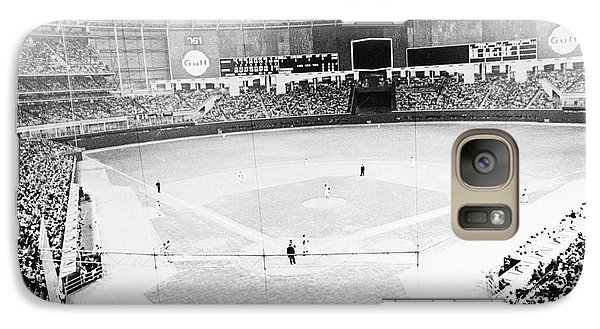 New York Yankees Galaxy S7 Case - Baseball: Astrodome, 1965 by Granger