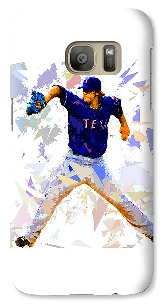Galaxy Case featuring the painting Baseball Pitch by Movie Poster Prints