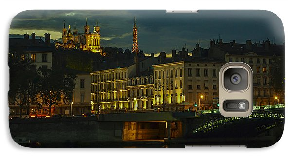 Galaxy Case featuring the photograph Basilica Notre Dame De Fourviere From Across The Rhone River by Allen Sheffield