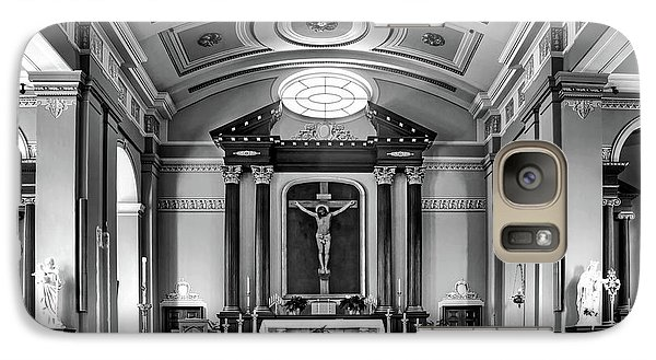 Galaxy Case featuring the photograph Basilica Of Saint Louis King - Black And White by Nikolyn McDonald
