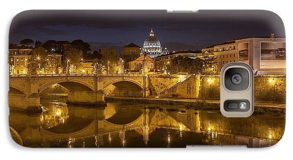 Galaxy Case featuring the photograph Basilica Over The River Tiber by Ed Cilley
