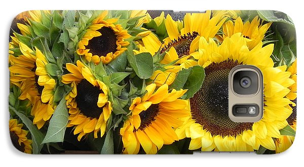 Galaxy Case featuring the photograph Basket Of Sunflowers by Chrisann Ellis
