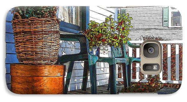 Galaxy Case featuring the photograph Basket Porch by Betsy Zimmerli