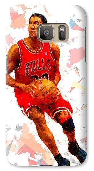 Galaxy Case featuring the painting Basketball 33 by Movie Poster Prints