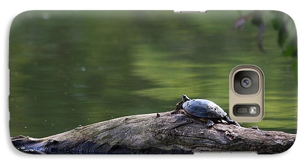 Galaxy Case featuring the photograph Basking Turtle by Lyle Hatch