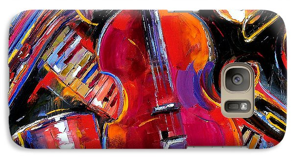 Trumpet Galaxy S7 Case - Bass And Friends by Debra Hurd