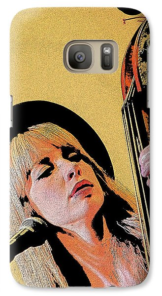 Galaxy Case featuring the photograph Bass Player by Jim Mathis