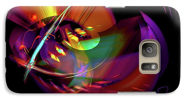 Galaxy Case featuring the painting International Bass Station by DC Langer