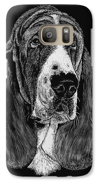 Galaxy Case featuring the drawing Basset Hound by Rachel Hames