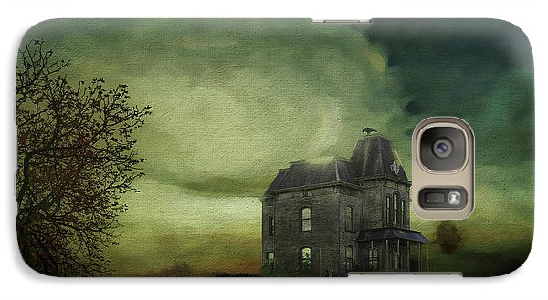 Galaxy Case featuring the mixed media Bates Residence by Jim  Hatch