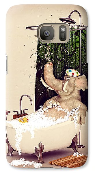 Galaxy Case featuring the digital art Bath Time by Methune Hively