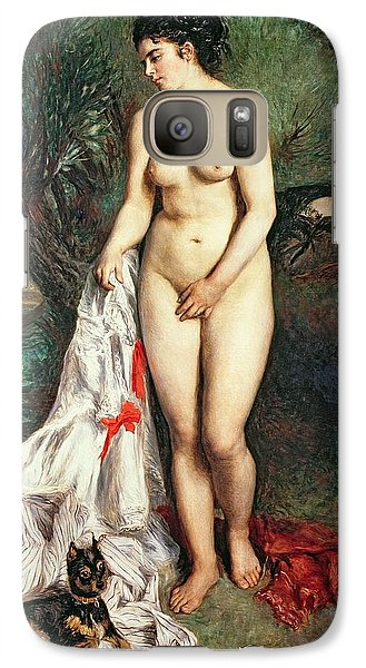 Bather With A Griffon Dog Galaxy S7 Case by Pierrre Auguste Renoir