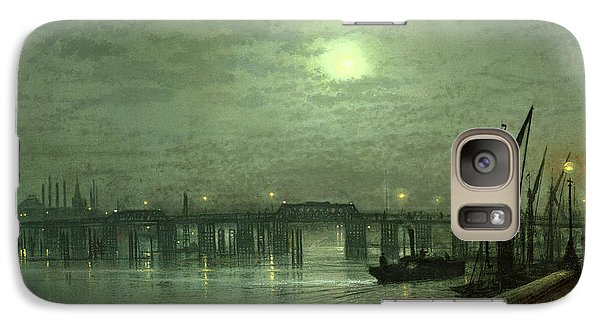 Battersea Bridge By Moonlight Galaxy S7 Case by John Atkinson Grimshaw