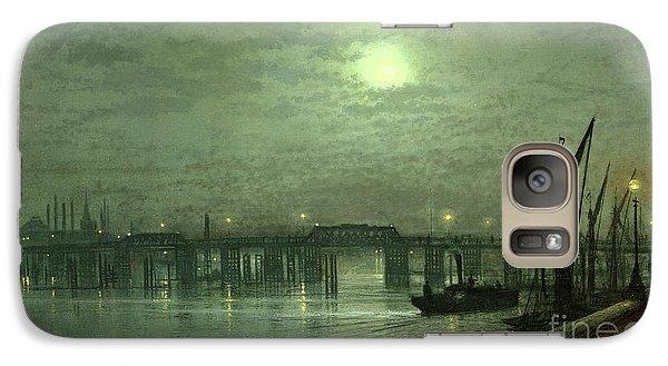 Battersea Bridge By Moonlight Galaxy Case by John Atkinson Grimshaw