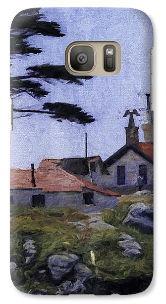 Galaxy Case featuring the photograph Battery Point Lighthouse Crescent City California by Diane Schuster