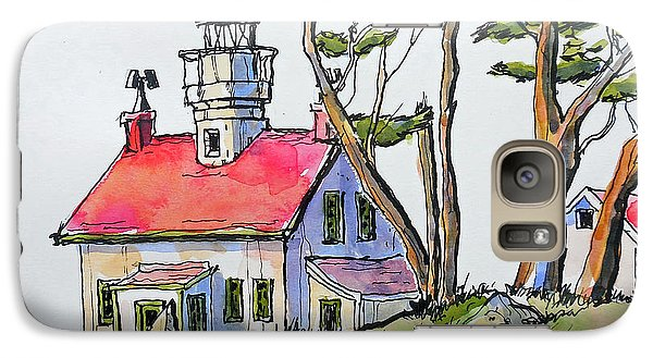 Galaxy Case featuring the painting Battery Point Lighthouse by Terry Banderas