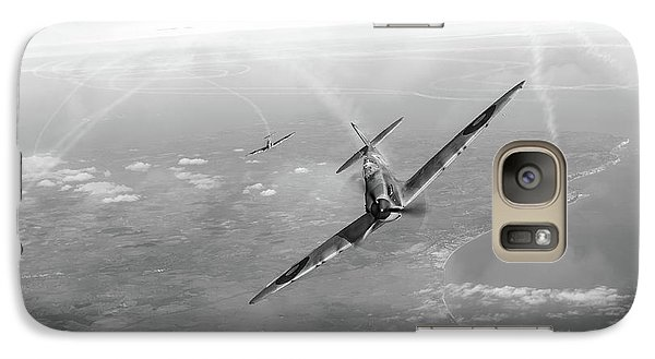 Galaxy Case featuring the photograph Battle Of Britain Spitfires Over Kent by Gary Eason