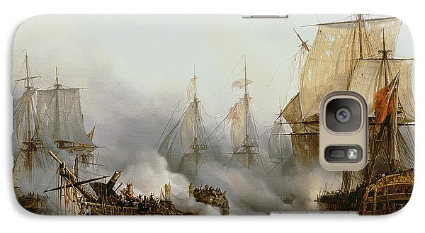 Boat Galaxy S7 Case - Battle Of Trafalgar by Louis Philippe Crepin