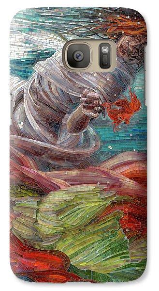 Galaxy Case featuring the painting Batyam by Mia Tavonatti
