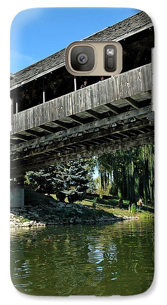 Galaxy Case featuring the photograph Bavarian Covered Bridge by LeeAnn McLaneGoetz McLaneGoetzStudioLLCcom