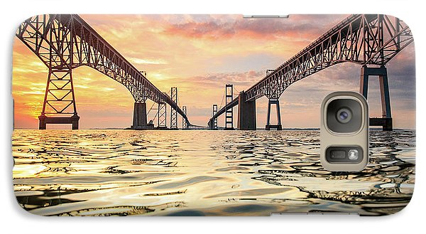 Galaxy Case featuring the photograph Bay Bridge Impression by Jennifer Casey