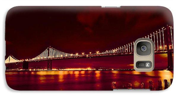 Bay Bridge Lights Galaxy S7 Case