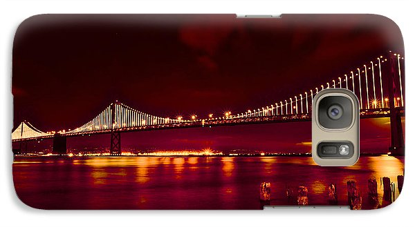 Galaxy Case featuring the photograph Bay Bridge Lights by Kim Wilson