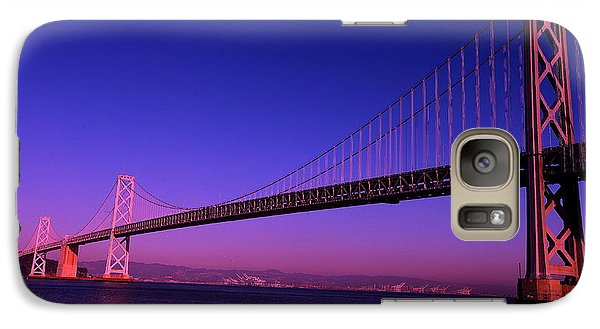 Galaxy Case featuring the photograph Bay Bridge Sunset by Linda Edgecomb