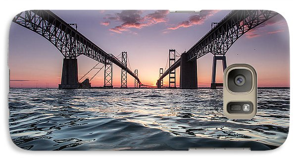 Galaxy Case featuring the photograph Bay Bridge Twilight by Jennifer Casey