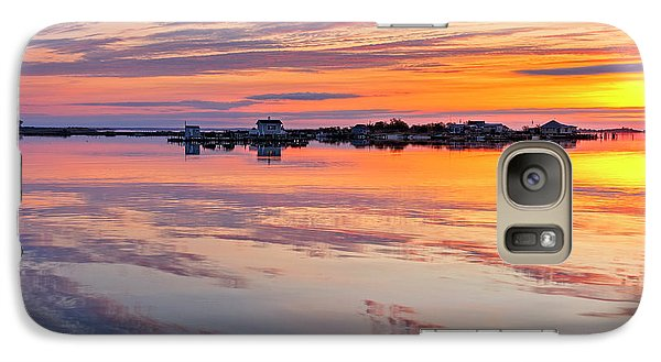 Galaxy Case featuring the photograph Bay Sunrise by Mike Lang