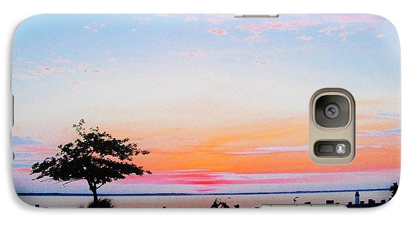 Galaxy Case featuring the photograph Bay Sunset by Susan Carella