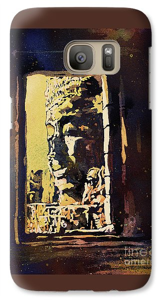 Galaxy Case featuring the painting Bayon IIi- Cambodian Ruins, Angkor Wat by Ryan Fox