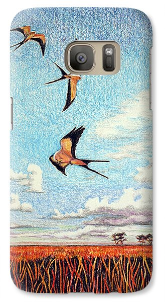Galaxy Case featuring the drawing Bayou Ballet by Suzanne McKee
